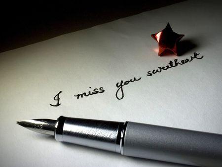 te extra�o: I Miss You Foto de archivo