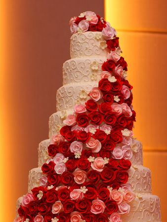 happy couple: Big Wedding Cake