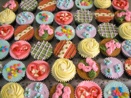 cup cakes: Colorful Cupcakes Stock Photo