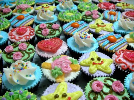 Wonderful Yummy Cupcakes Stock Photo
