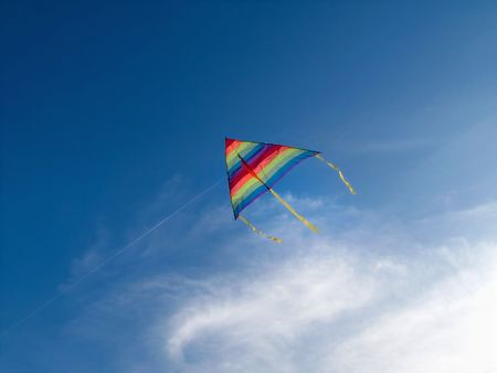 aspirational: Natural Flying Kite Stock Photo