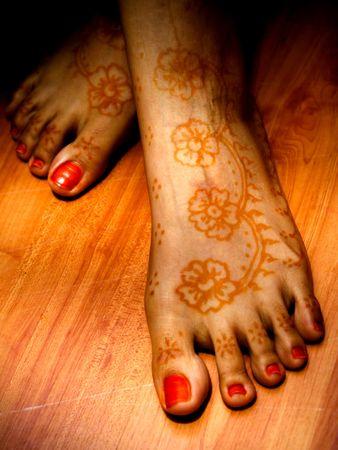Leg Flowers Tatoo Art photo