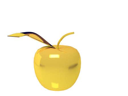 Gold apple Фото со стока