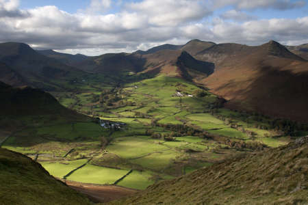 A view looking west from catbells in the English Lake District Stock Photo - 16690976