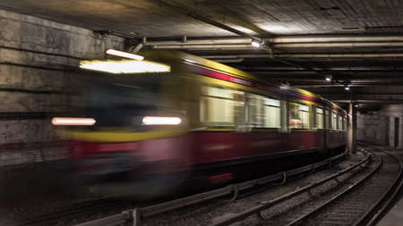 Berlin tunnel systems for infrastructure for public transport 写真素材