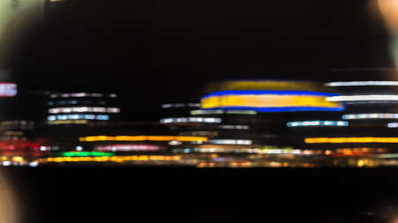 Futuristic city view of the capital of Germany at night, Berlin 写真素材