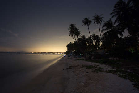 Night landscape of the beach