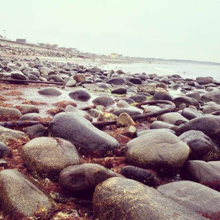 A rainy day on Hampton beach
