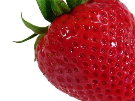 detailed shot: This is a macro detailed shot of a fresh strawberry.