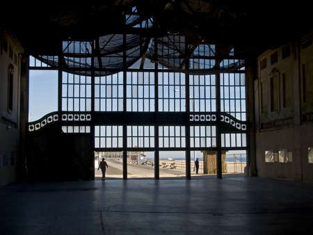 This is a shot of the interior of the old casino in Asbury Park NJ being demolished. photo