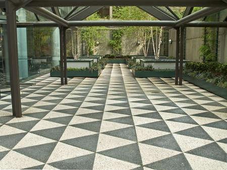 A modern design courtyard in Manhattan.