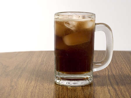 root beer: A frosty mug of root beer. Stock Photo