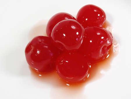 maraschino: A pile of maraschino cherries.