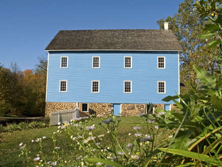 An old colonial mill at Historic Walnford in Crosswicks Creek Park in New Jersey. Stock Photo - 603603