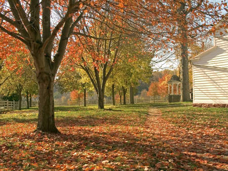 A colorful Fall view of the historic Longstreet Farm  in Holmdel  New Jersey. photo
