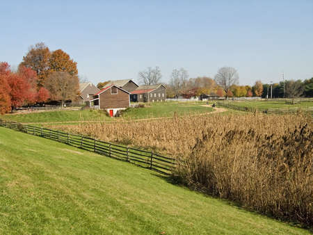 A rural Autumn farm scene in New Jersey. photo