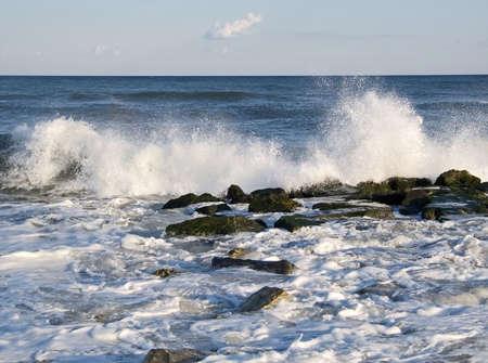 braking: A braking wave along the New Jersey shore.