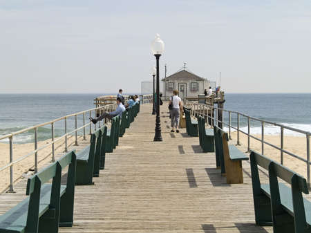 The Fishing pier in historic Ocean Grove New Jersey. photo