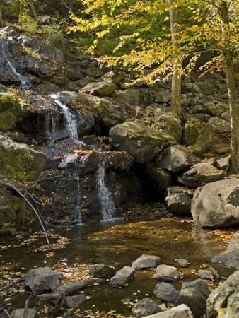 A drought along the East coast this past Autumn has reduced this waterfall to a trickle. photo