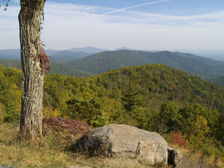 A picturesque view from Skyline Drive at Shenandoah National Park in West Virginia. photo