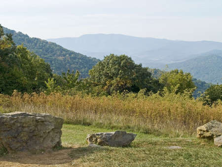 west virginia trees: A picturesque view from Skyline Drive at Shenandoah National Park in West Virginia.