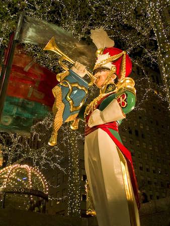 Toy soldier illuminated decorations 写真素材