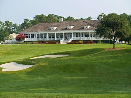 사우스 캐롤라이나의 TPC 머틀 비치 골프 코스에있는 클럽 하우스.