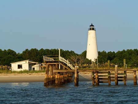 The historic Georgetown Lighthouse located along the Georgetown River in South Carolina.