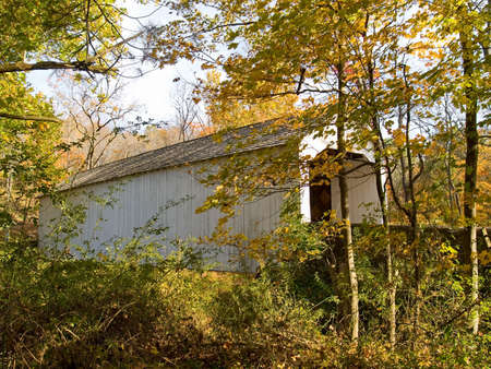 A close-up of the Loux Covered Bridge located in Plumstead Township, Bucks County, Pa. Stock Photo - 3907717