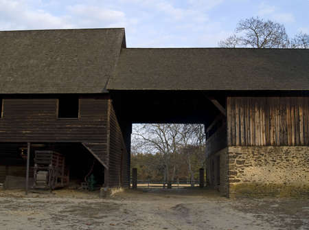 over sized: A over sized barn is part of the historic Batsto Village located in the South Central New Jersey Pinelands.