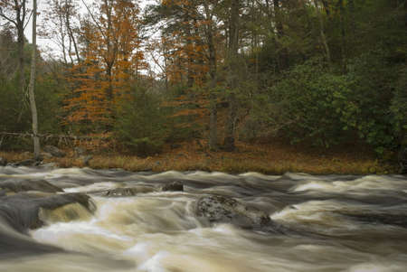 A motion view of Bushkill Creek in the Pocono Mountains of Pennsylvania. photo
