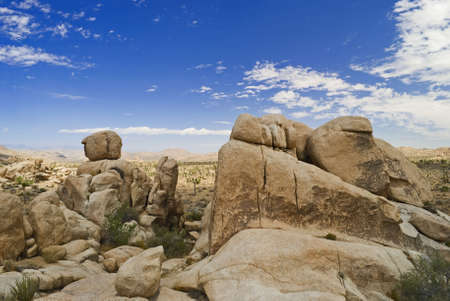 Interesting rock formations in Joshua Tree National Park near Palm Springs California. photo