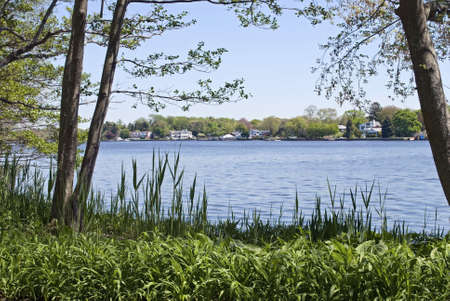 A view of the Great River as seen from Bayard Cutting Arboretum State Park in Oakdale, Long Island. Stock Photo - 6998506