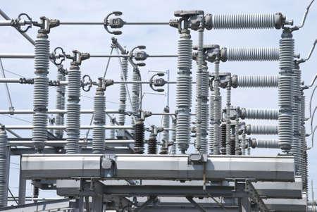 Een weergave van sommige elektrische power equipment in een kern centrale.