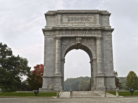 forge: The National Memorial Arch, located in Valley Forge, Pennsylvania.