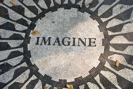 Das Imagine-Mosaik, befindet sich in Strawberry Fields, Central Park in Manhattan.