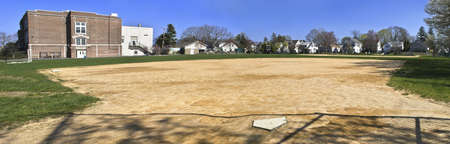A panoramic view of this neighborhood ball field in Spring Lake, New Jersey. photo