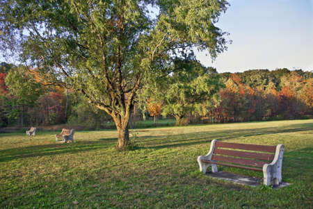 middlesex: A view of Davidson Mill Pond Park, Middlesex County, NJ during Autumn.