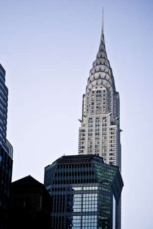 chrysler building: A view of the Chrysler building in Manhattan.