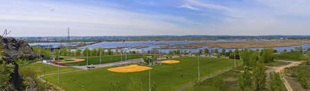 A panoramic view of Laurel Hill Park from Snake Hill in Secaucus, New Jersey. Stock Photo - 13659842