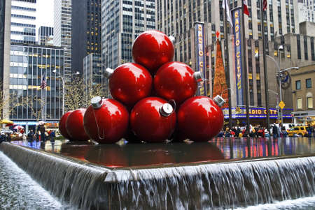 NEW YORK - DECEMBER 26: Christmas Decorations in Rockefeller Center on December 26, 2011 in  New York City.