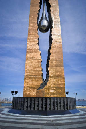 bayonne nj march 9 a view of the teardrop memorial in bayonne