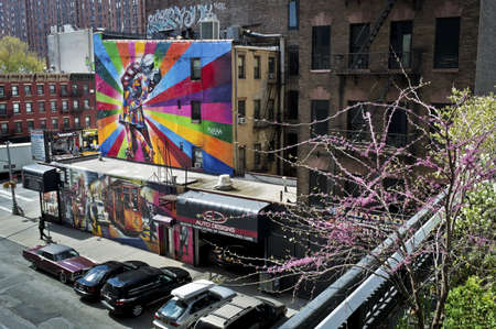 murals: Beautiful murals can be seen from The High Line Park in Manhattan.