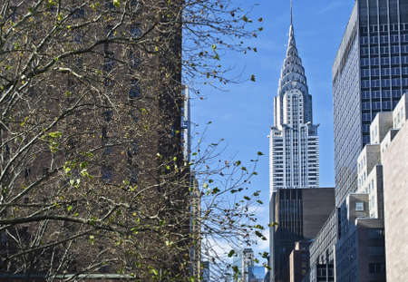 chrysler: An East Side view of the Chrysler Building in New York City.