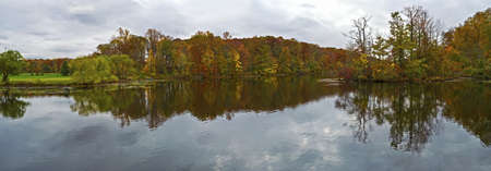 middlesex: A panoramic view of a lake in Middlesex County New Jersey