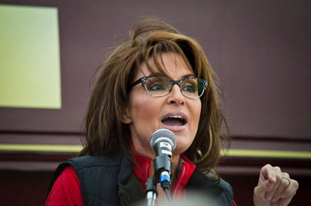 governor: NEW EGYPT, NEW JERSEY USA – OCTOBER 12  Former Alaska governor and political superstar Sarah Palin at the Tea Party rally for Steve Lonegan on October 12 2013 in New Egypt New Jersey  Editorial