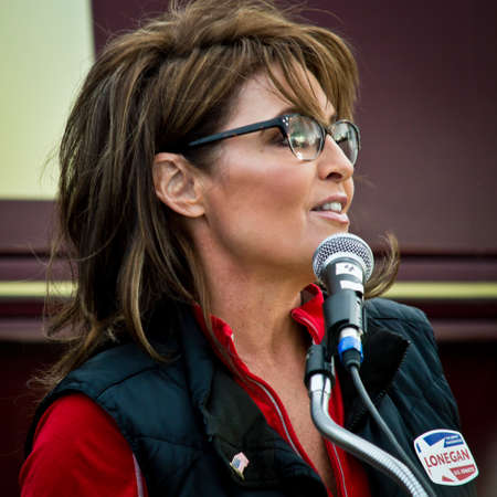 commentator: NEW EGYPT, NEW JERSEY USA – OCTOBER 12  Former Alaska governor and political superstar Sarah Palin at the Tea Party rally for Steve Lonegan on October 12 2013 in New Egypt New Jersey  Editorial