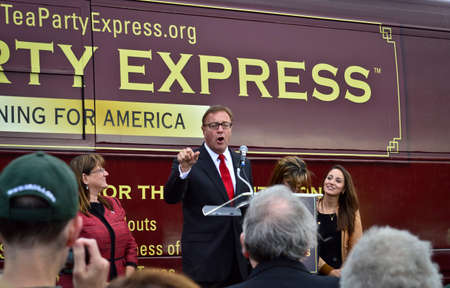 conservative: NEW EGYPT, NEW JERSEY USA – OCTOBER 12   Steve Lonegan Conservative Republican candidate for the US Senate campaigns on October 12 2013 in New Egypt New Jersey