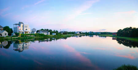 cape cod home: The inlet in Centerville at sunset at Cape Cod in Massachusetts