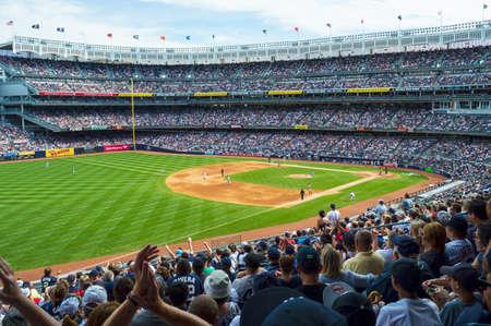 NEW YORK-SEPTEMBER 7  A full house for the Yankees vs Red Sox at Yankee Stadium on September 7 2013 in New York City  報道画像